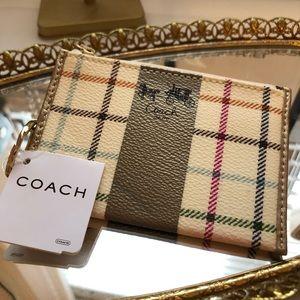 NWT Coach ID/Card Wallet